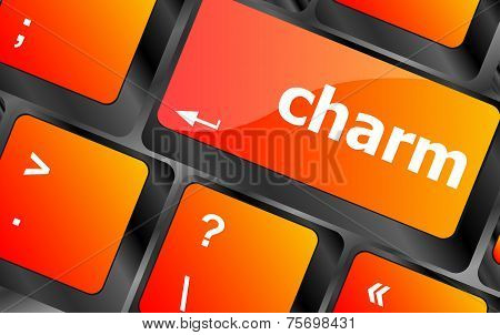 Charm Word On Keyboard Key, Notebook Computer Button