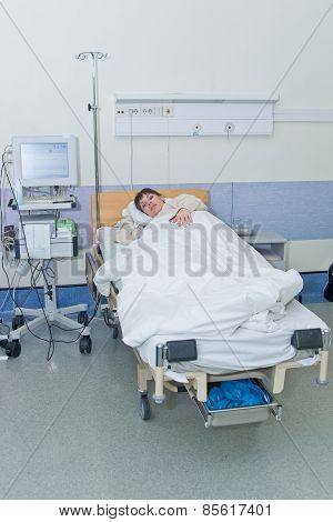 Young Woman In Hospital