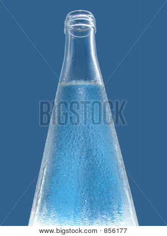 Water Bottle with Navy backround