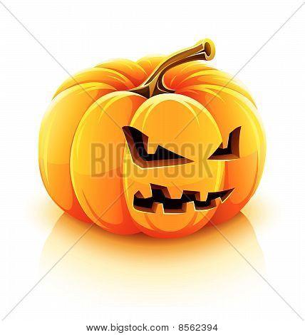calabaza de halloween de Jack-o-Lantern enojado