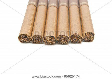 Few Cigarillos On White
