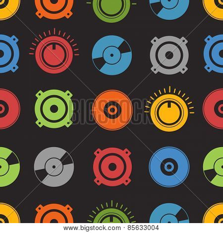 Audio equipment seamless background