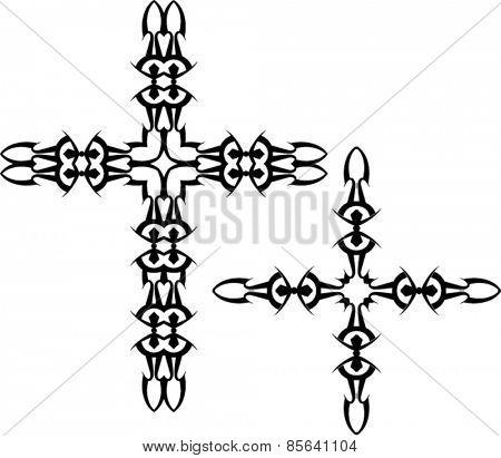 Tattoo Christian Cross Vector Art