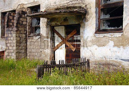 Abandoned Building Entrance