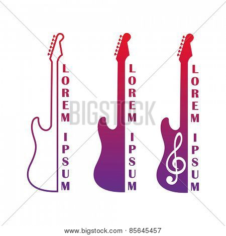 Vector illustration of a symbolic image of guitars