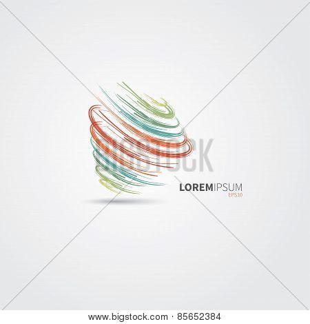 Abstract Swirl Logo Design
