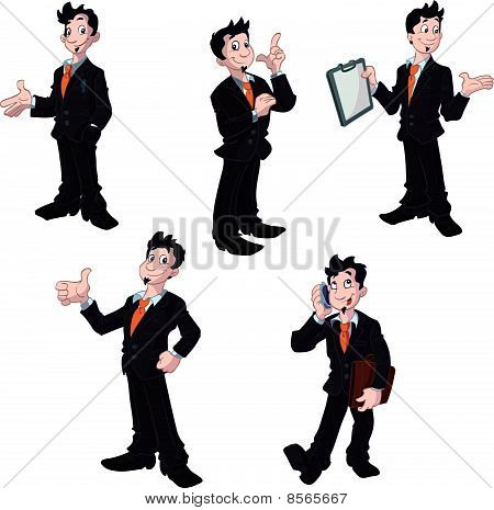 collection of business man