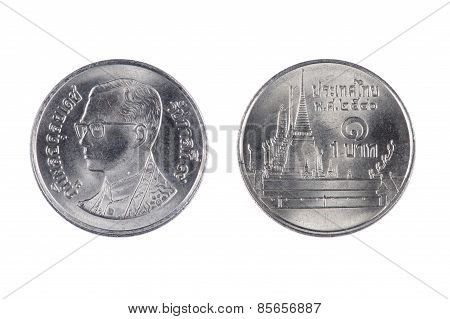 Thailand Coin On White