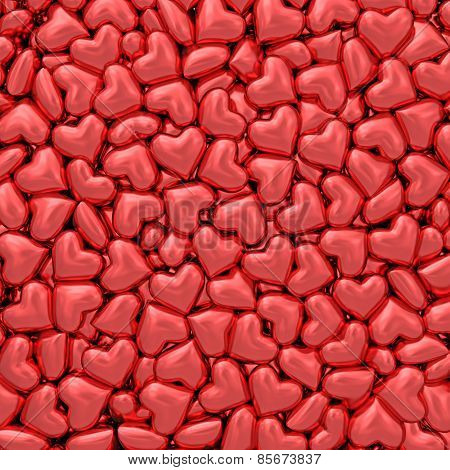 Background Composed Of Many Small Red Hearts