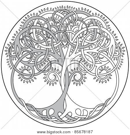 Vector Tree Of Life Emblem