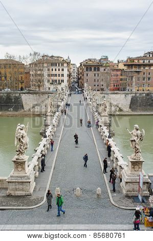 Rome, Italy - January 27, 2010: Aelian Bridge