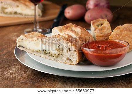 Fresh Sliced Stromboli Stuffed Bread