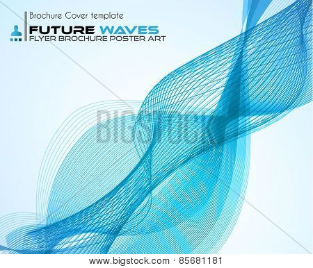 Abtract waves background for brochures and flyers design. The template is ideal also for business cards, advertisement, posters and presentations.