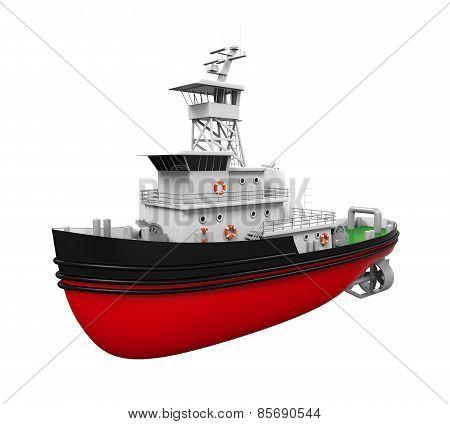 Tugboat Isolated