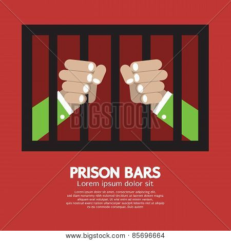 Prison Bars Graphic.