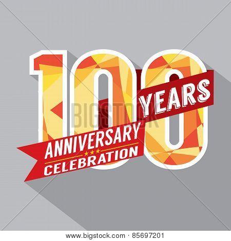 100Th Years Anniversary Celebration Design.