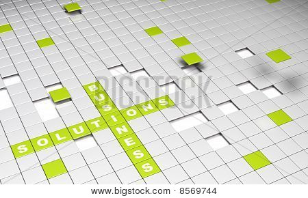 Green Business Solutions Concept Background