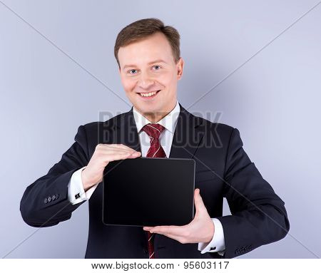 Concept for Slavonic young businessman