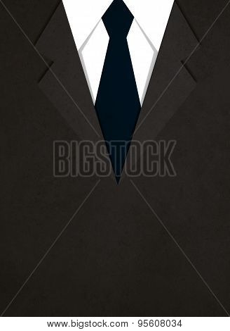 illustration of business suit with a tie