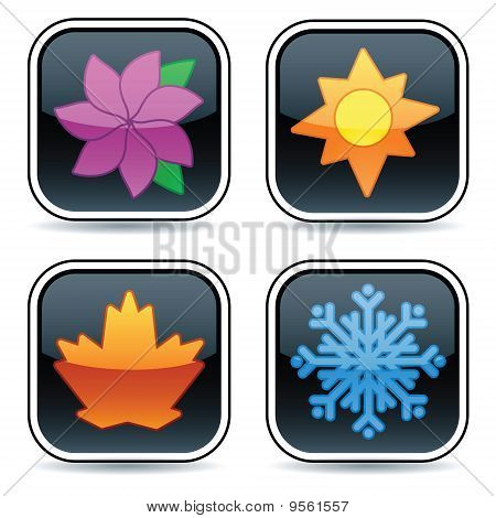 Glossy Four Season Buttons