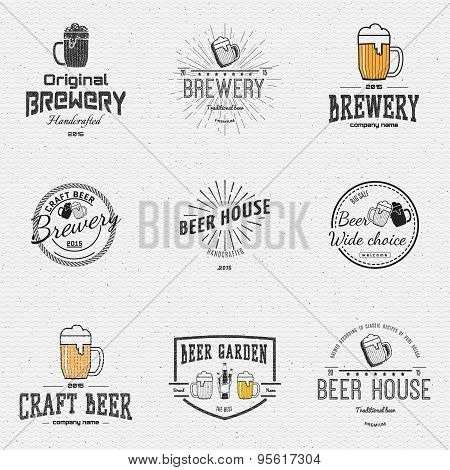 Beer badges logos and labels for any use