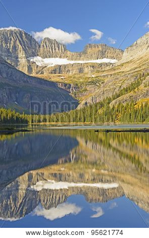 Early Morning Fall Reflections On A Mountain Lake