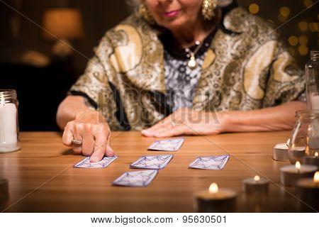 Woman Predicting Future
