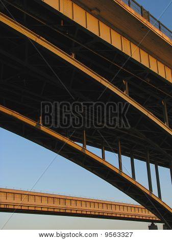 Fragments of two bridges