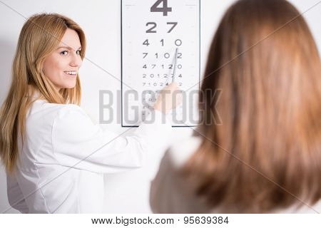 Eye Specialist Using Snellen Test
