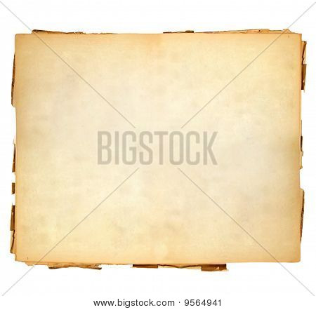 Vintage sheet of paper with soft and lukewarm shades on white background. poster