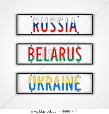 The Slavs Car Signs