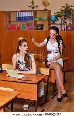 Teacher Punishes Student For Cheating.