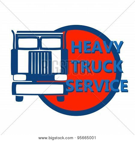 Vector Illustration Design Banner For Hevy Truck
