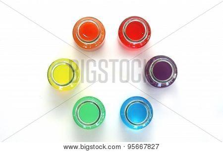 Colors Water In Bottles