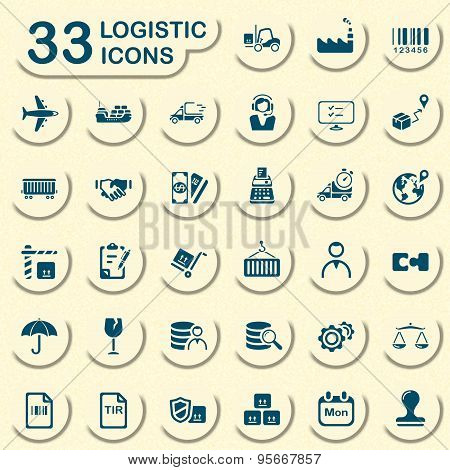 Jeans logistic icons