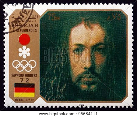 Postage Stamp Sharjah 1972 Self-portrait, By Albrecht Durer