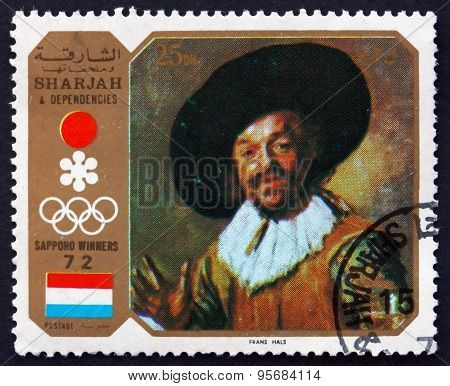 Postage Stamp Sharjah 1972 The Merry Drinker, By Frans Hals