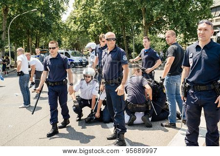 Police After Arresting Man