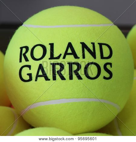 Babolat Roland Garros tennis ball at Le Stade Roland Garros in Paris