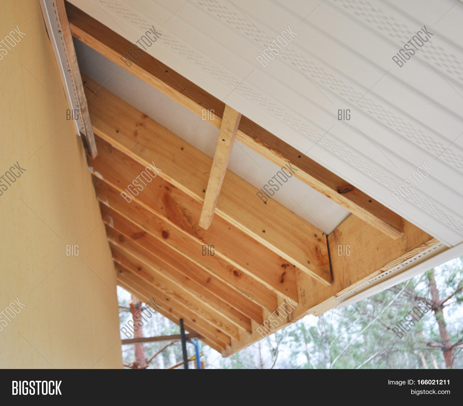 Close On Roofing Construction Image Amp Photo Bigstock