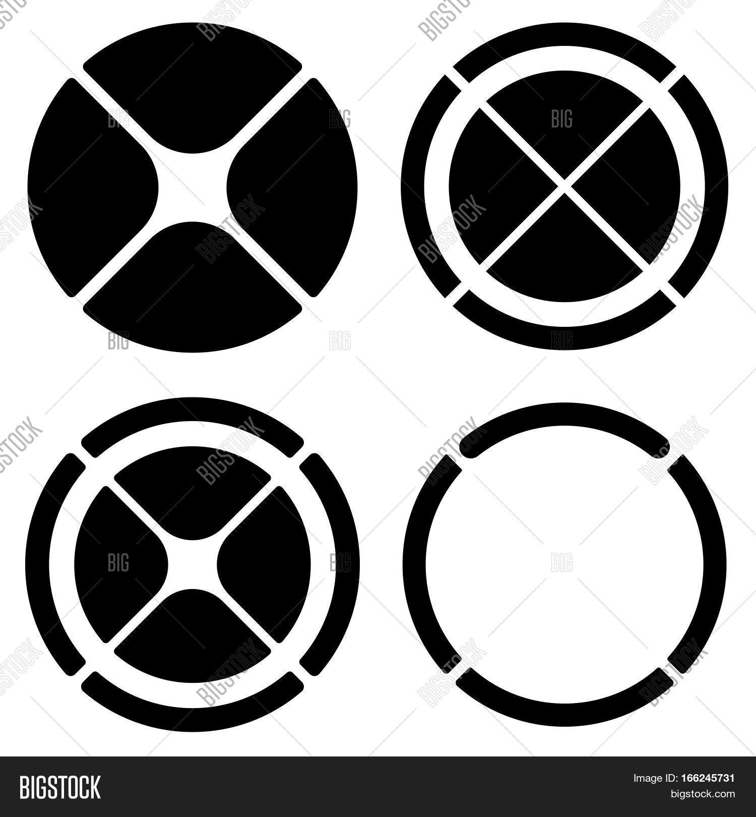 Set circular crosshair target vector photo bigstock set of circular crosshair target mark symbols or pie chart pie graph elements biocorpaavc Images