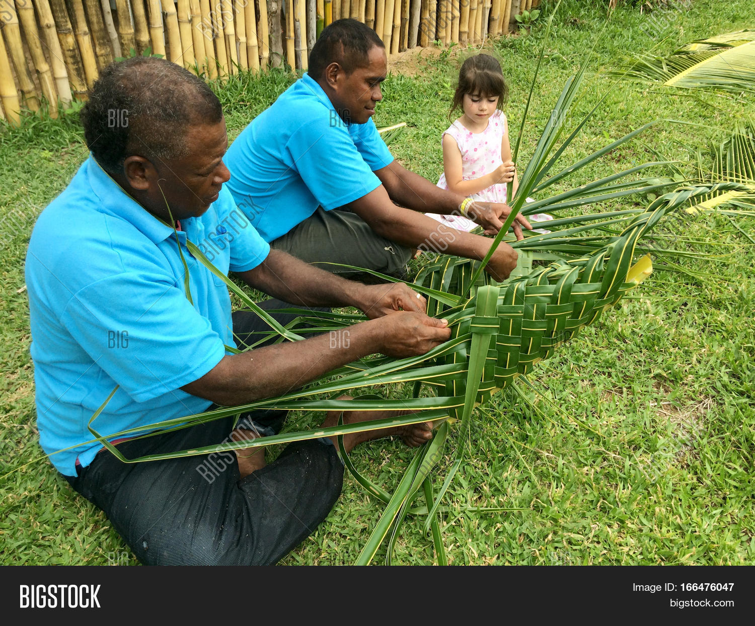 Fijian Men Teach Young Image Photo Free Trial Bigstock