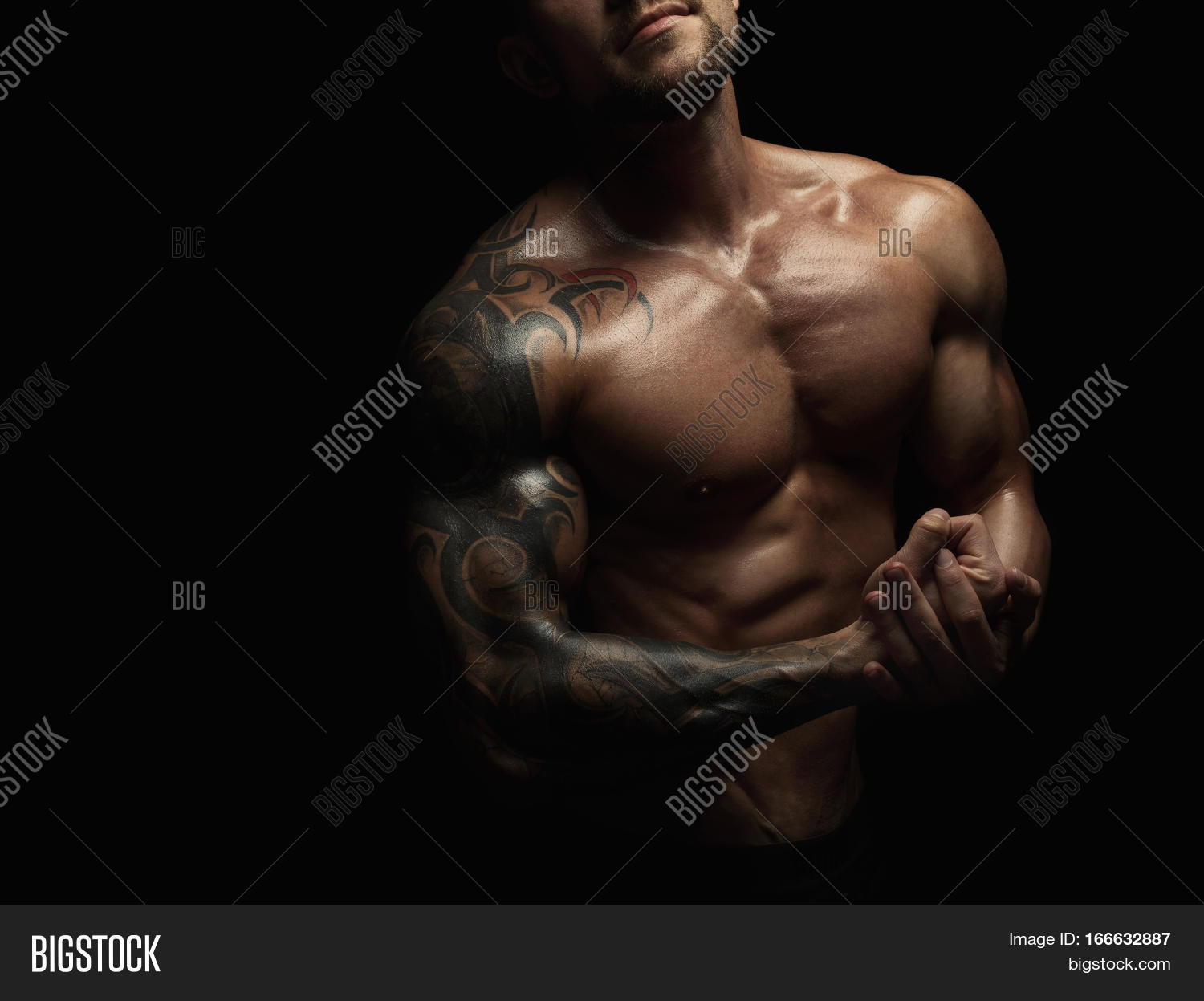 Strong Athletic Man Image Photo Free Trial Bigstock