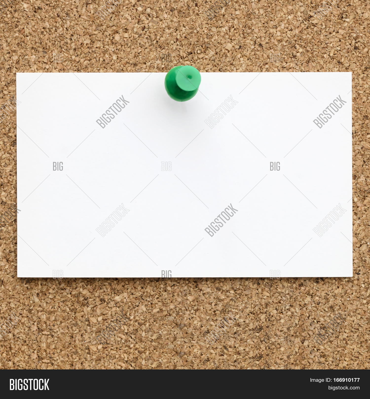 Blank business card image photo free trial bigstock blank business card with green push pin on cork board reheart Gallery