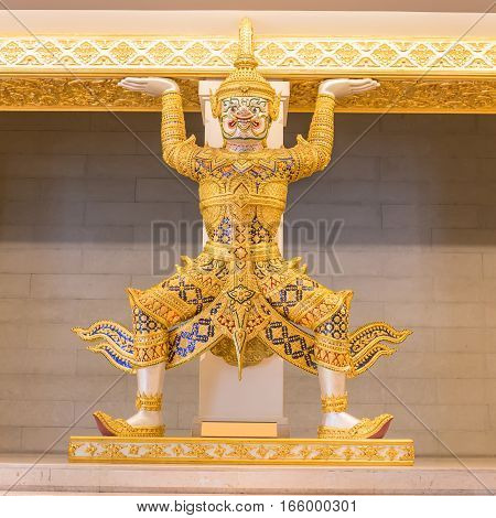 Golden giant of literature or tale thai