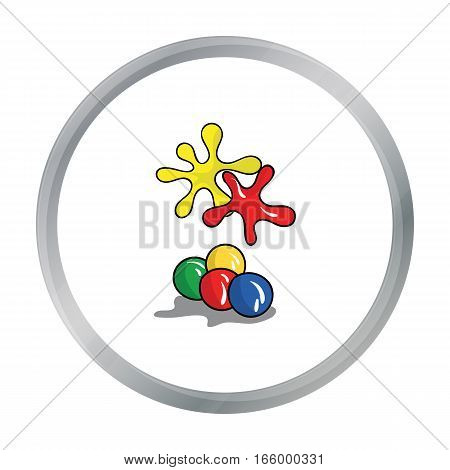 Balls for paintball icon in cartoon design isolated on white background. Paintball symbol stock vector illustration. - stock vector