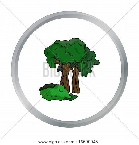 Paintball playing field icon in cartoon design isolated on white background. Paintball symbol stock vector illustration. - stock vector