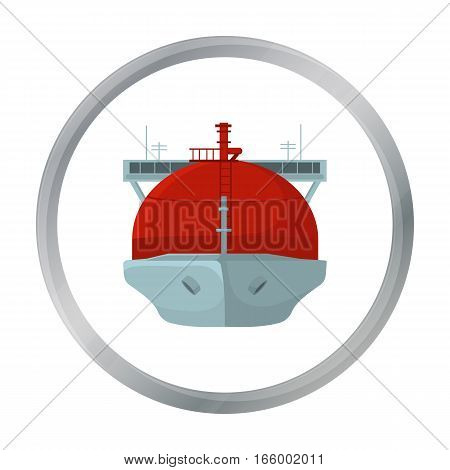 Oil tanker icon in cartoon style isolated on white background. Oil industry symbol vector illustration. - stock vector
