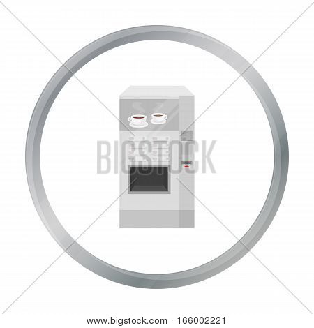 Office coffee vending machine icon in cartoon style isolated on white background. Office furniture and interior symbol vector illustration. - stock vector