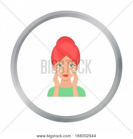 Face care icon in cartoon style isolated on white background. Skin care symbol vector illustration